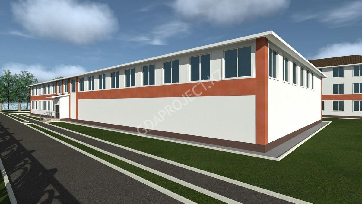 Строительство пристройки спортивного, актового зала и пищеблока