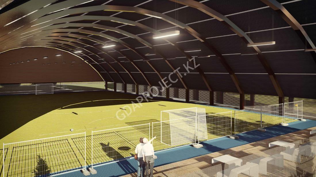 Строительсво крытых футбольных полей
