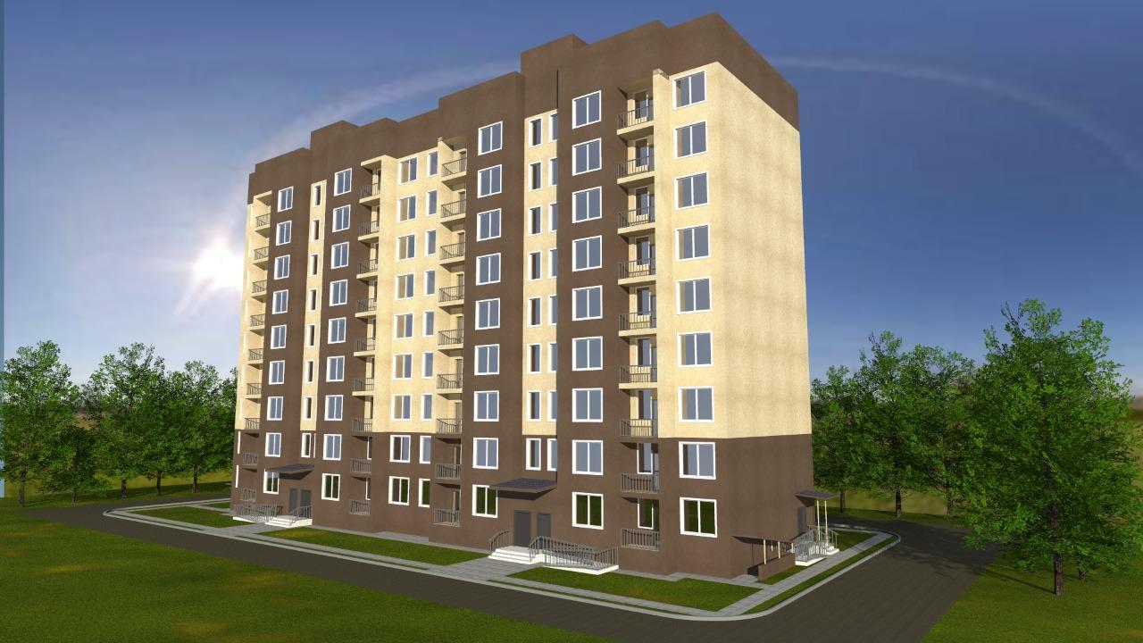 Строительство 9-ти этажного многоквартирного жилого дома