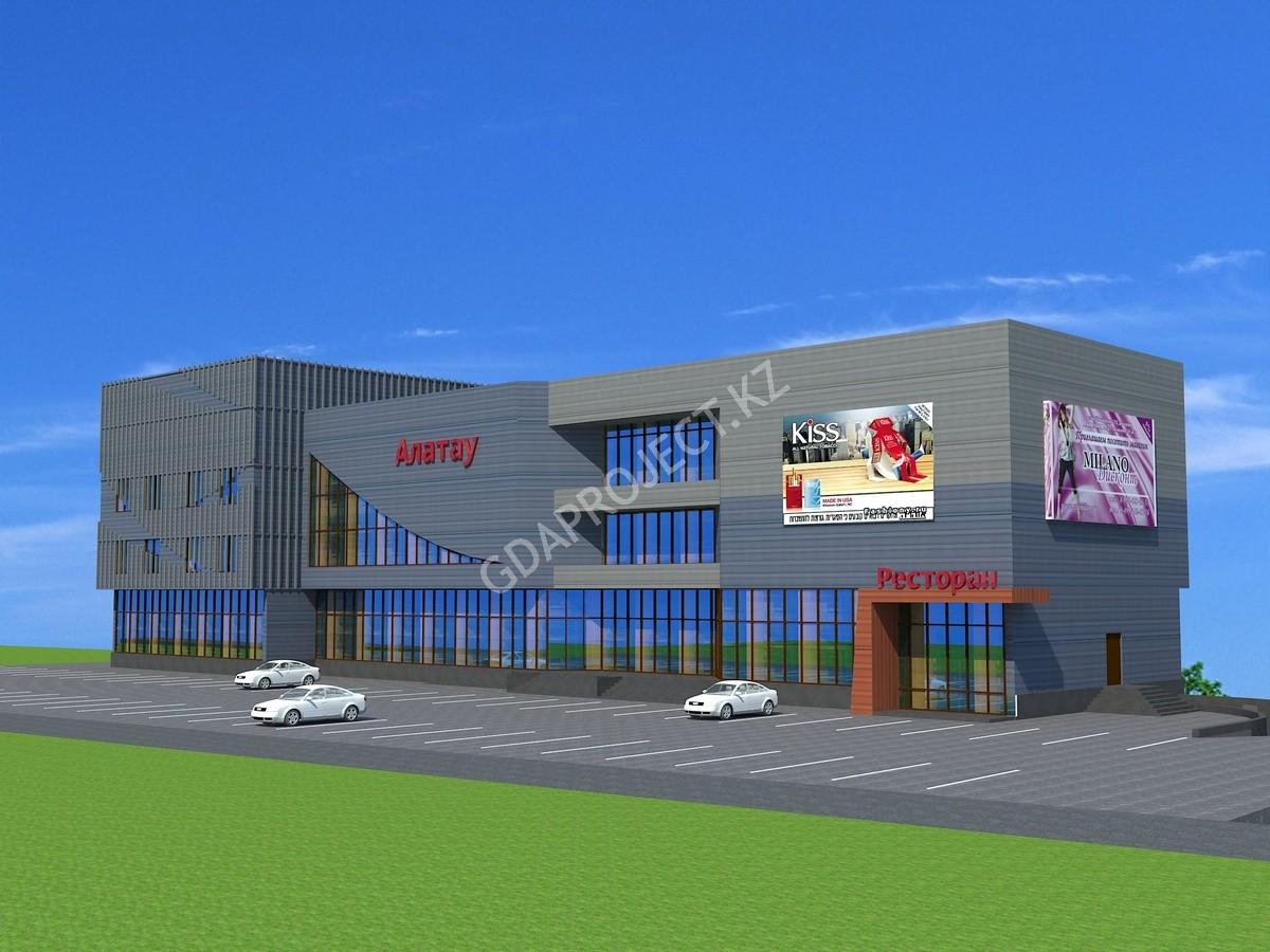 Разработка ПСД и участие в строительстве торгового центра Алатау