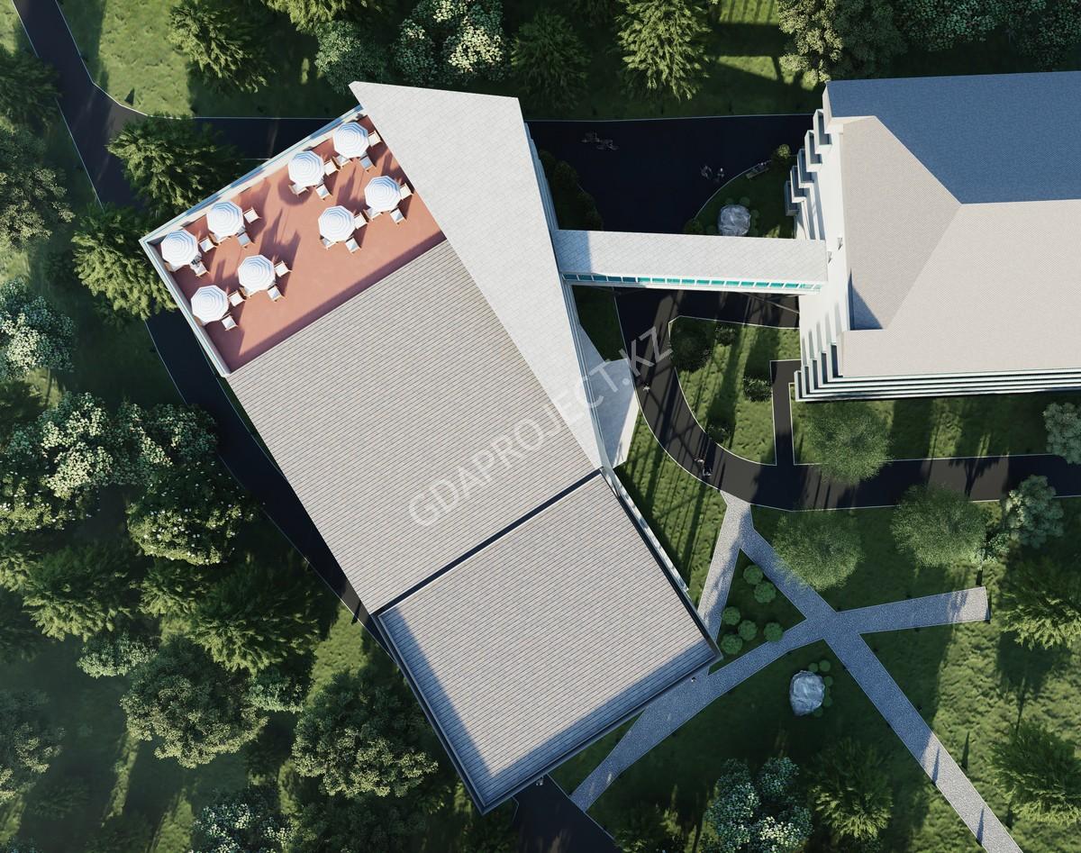 СПА центр с бассейном для сан. Мерке Радон в г. Мерке